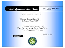 CRI Certificate for Carpet Cleaning Service